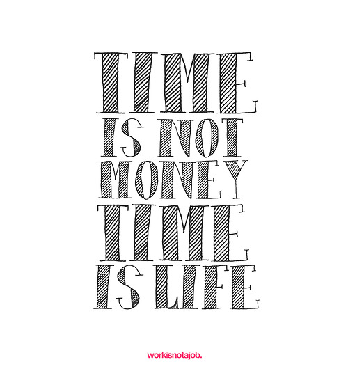 Time is not money Time is life